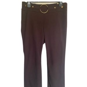 SOHO Women Brown High Waisted Buckle Trouser Pant